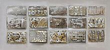 Monee BILD Abstraktes , Braun, Hellgrau, Beige,