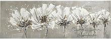 Monee BILD Blumen , Weiß, Holz, Tanne, 50 cm
