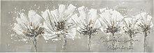 Monee BILD Blumen , Weiß, Holz, Tanne, 50x150 cm