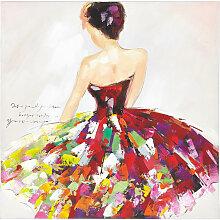 Monee BILD , Multicolor, Holz, Tanne, 100x100 cm