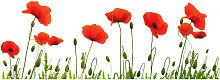 Monee GLASBILD Blumen , Multicolor, Glas, 125x50 cm