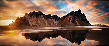 Monee GLASBILD Landschaft & Natur , Glas,