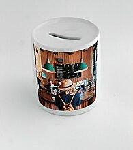 Money box with Adult, Bar, Coffee Machine, Coffee Shop