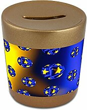 Money box with EUROPEAN UNION.