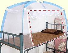 Mongolischen Beutelhalter Schlafzimmer Moskitonetze ( Farbe : Blau , größe : 1door )