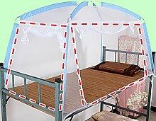Mongolischen Beutelhalter Schlafzimmer Moskitonetze ( Farbe : Blau , größe : 2door )