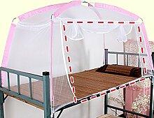 Mongolischen Beutelhalter Schlafzimmer Moskitonetze ( Farbe : Pink , größe : 1door )