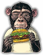 Monkey Burger - Self-Adhesive Sticker Car Window