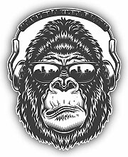 Monkey Dj - Self-Adhesive Sticker Car Window