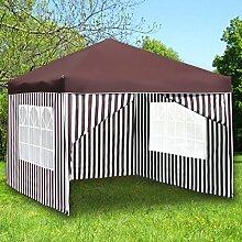Monkey Mountain Faltpavillon 3x3 Meter -mit oder ohne Seitenwände auswählbar- Partyzelt (Pavillon Ohne Seitenwände, Rot)