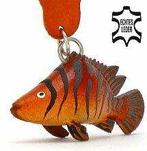 Monkimau Barsch Fisch Leder Schlüssel-anhänger