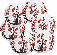 Monland 6Er Pack 12 Zoll Rote Kirsche Blumen