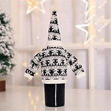 Monllack Flaschenhülle mit Hut Weihnachten