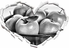 Monocrome, Apple Apfel Korb mit grünen Äpfeln