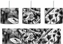 Monocrome, fressende Giraffe inkl. Lampenfassung