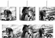 Monocrome, Western Pferde Cowboy inkl.