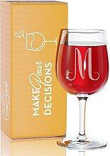 Monogramm 12,75Unze Gravur Wein Glas Hohe