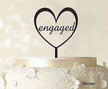 """Monogramm-Hochzeits Kuchendeckel Custom Spiegel Cake Topper Color Option verfügbar 5,5 """"""""-6,5"""""""" Zoll brei"""