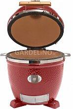 Monolith Grill rot zum Einbauen - Keramik-Grill ohne Gestell