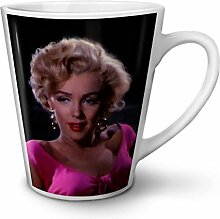 Monroe Foto Berühmtheit Weiß Keramisch Latte Becher 12 oz | Wellcoda