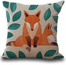 monrose Fox Print Sofa Bett Dekoration Kissenbezug