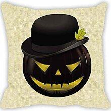 monrose Halloween Kürbis Quadrat Kissenbezug