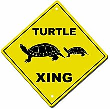Monsety Blechschild mit Sprüchen Schildkröte