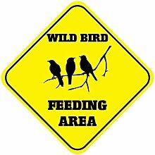 Monsety Blechschild mit Sprüchen Wild Bird
