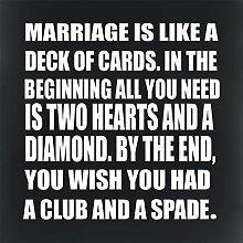 Monsety Gartenzaun Garage Dekoschild Marriage is