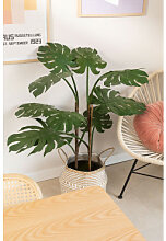 Monstera künstliche Pflanze Dunkelgrün Sklum