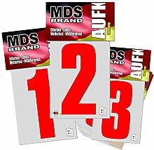 Monsterdesigns 10cm Zahlen 0-9-Pack Rot Hausnummer