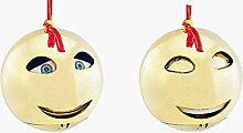 Monsterzeug Christbaumkugel Gold mit Soundeffekt,