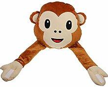 Monsterzeug Emoji Kissen Affe mit flexiblen Armen