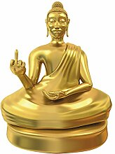 Monsterzeug Kleine Buddha Statue mit Mittelfinger,