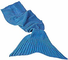 Monsterzeug Meerjungfrauen Decke Blau für Kinder,