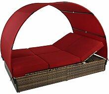 Montafox Sonnenliege Polyrattan Doppelbett 200 x