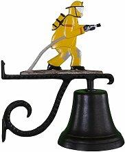 Montague Metal Products Glocke mit Feuerwehrmann