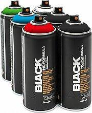 Montana Black 6 x 400ml Basic Sprühdosen Pack