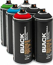 Montana Black 6x 400ml Basic Sprühdosen Pack