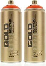 Montana Cans 284281 Spray Dose Gold, Gld400, 2080, 400 ml, Pure Orange