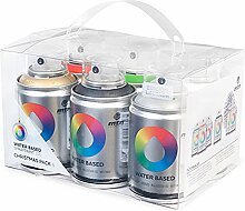 Montana Colors ex011W0026m Spray auf Wasserbasis, 100ml, Set 6-teilig