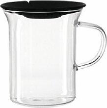 montana-Glas Tasse :clever mit Teebeutelpresse 330