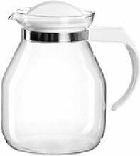 montana-Glas Teekanne :content Weiß, Glas weiß