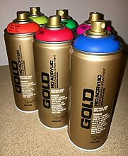 Montana Gold 6 x 400ml Neon Spray fluoreszierend Sprühdosen Pack