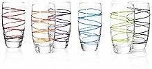 montana LD Becher :swirl 6/Set farbig sortiert, Longdrinkbecher Saftglas Wasserglas