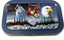 MontCherry Tabakdose, 28 g, Wolf, Tiger, Eagle