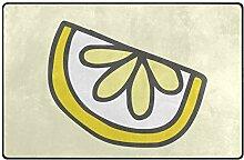 MONTOJ Adorable Lemon Schuhkratzer Teppich für