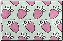 MONTOJ Adorable Strawberries Schuhkratzer Teppich