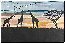 MONTOJ Akazie und Giraffe Schuhkratzer Teppich,