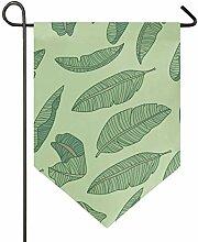 MONTOJ Bananaleaf Home Sweet Home Gartenflagge,